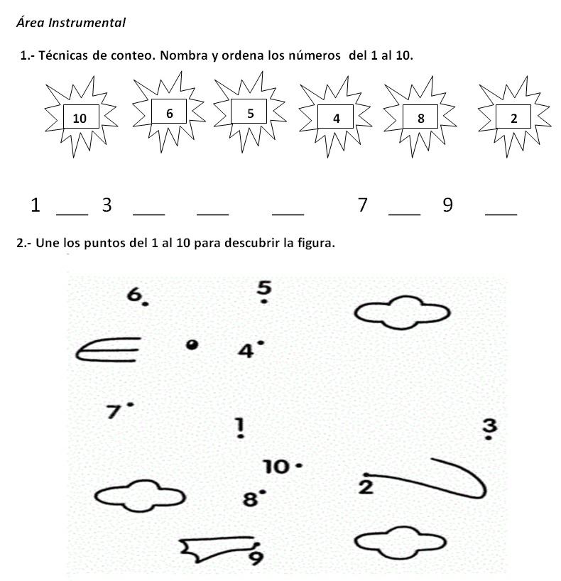 Resultado de imagen de ordenar numeros del 1 al 10